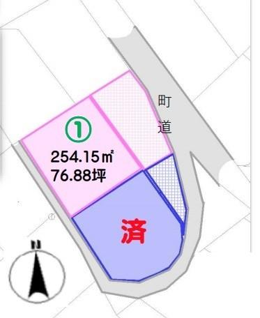 下伊那郡高森町下市田2区画土地 間取図・土地図