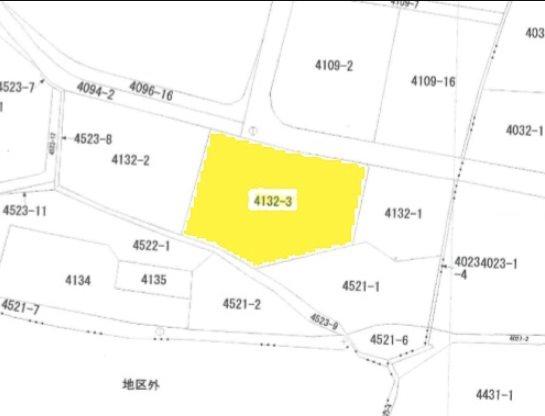 飯田市宮ノ上土地 間取図・土地図