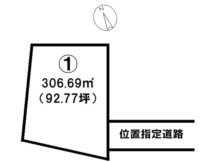 飯田市大瀬木土地 間取図・土地図