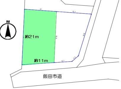 飯田市駄科土地 間取り図