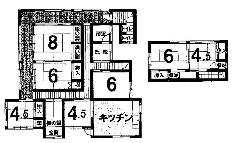 飯田市高羽町中古住宅 間取り図