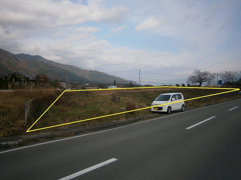 駒ケ根市切石事業用土地 外観写真