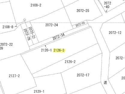 飯田市座光寺土地 間取図・土地図
