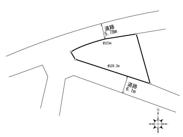 東畑町土地 間取り図