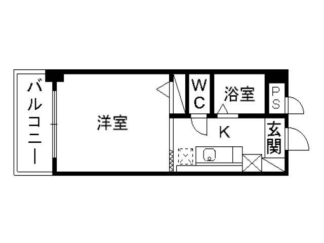 ケントクレール黒崎三階部分 307号室 間取り図