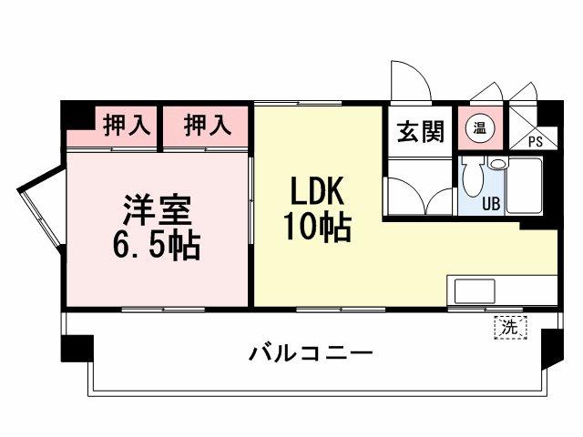 リヴィエール黒崎 701号室 間取り図