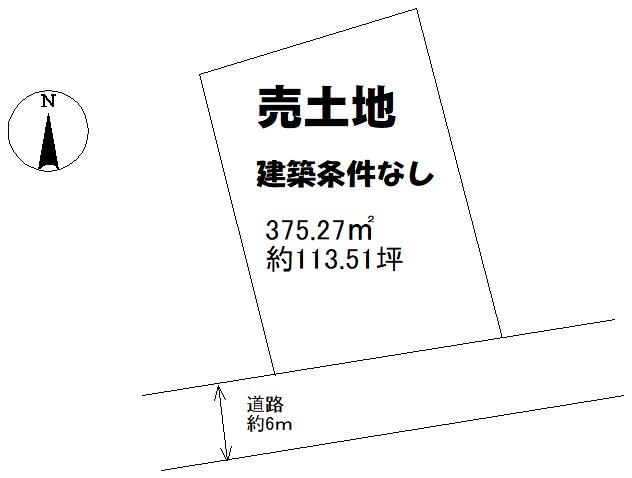 土地 周南呼坂本町 間取図・土地図