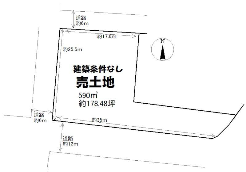 土地 光市島田4丁目 間取図・土地図