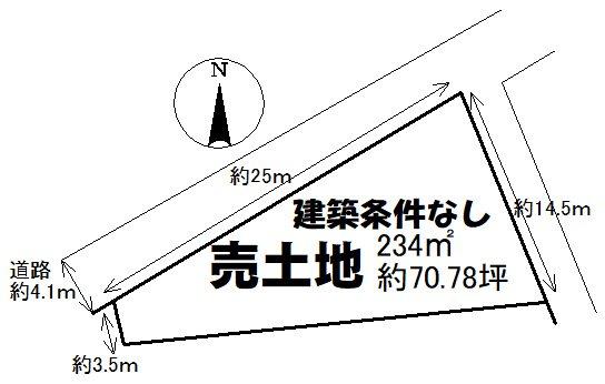 土地 周南市大字徳山字松の前 間取図・土地図