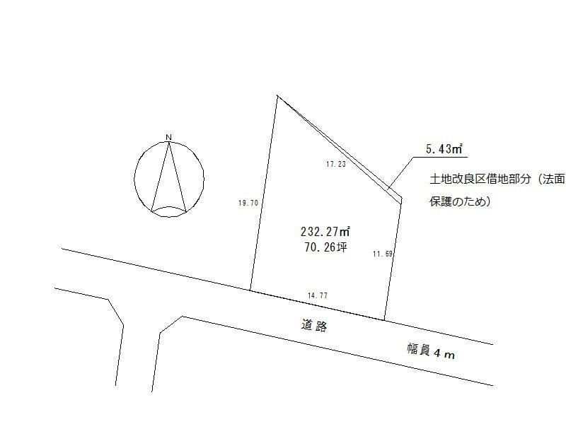 【ハシモトホーム】水沢川端売地 間取り図