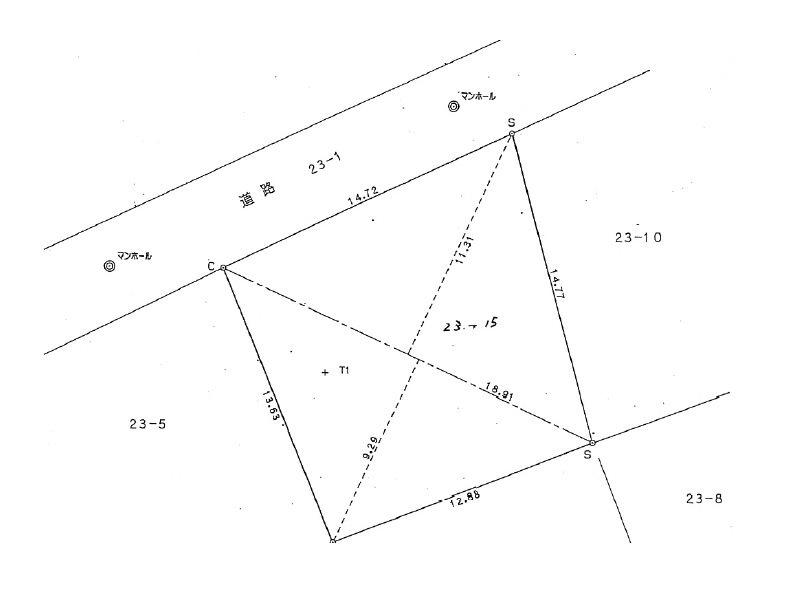 【ハシモトホーム】 東中野町 売地 間取り図