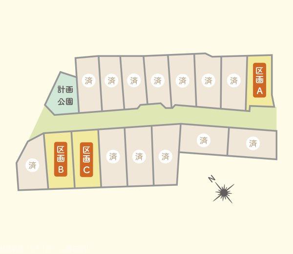 【土地】新田分譲地B区画 間取り図