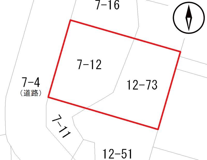 青森市大字安田字近野7番12、12番73 間取図・土地図