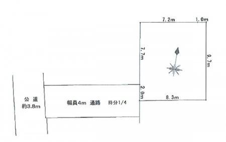 【非公開】茅ヶ崎市東海岸北3丁目 売地 間取り図
