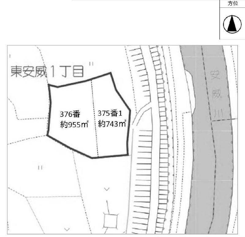 茨木市東安威1丁目 売土地 間取り図