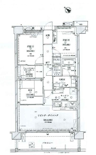 ダイアパレス大宮宮原 間取図・土地図