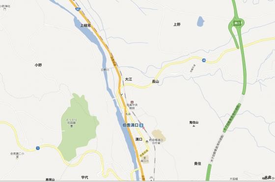 西伯郡伯耆町溝口の土地 間取り図