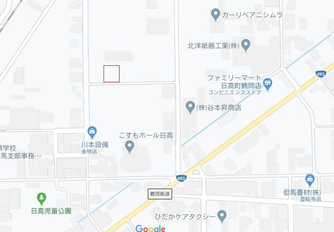 豊岡市日高町鶴岡の土地 間取り図